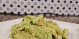Delicious Homemade Salmon Zucchini Pesto Pasta Recipe