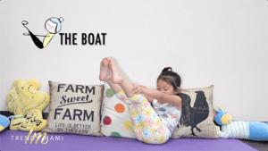 Kids Yoga Boat Pose