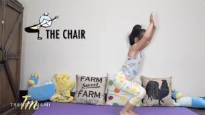 Kids Yoga Chair Pose