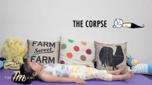 Kids Yoga Corpse Pose