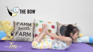 Kids yoga bow pose