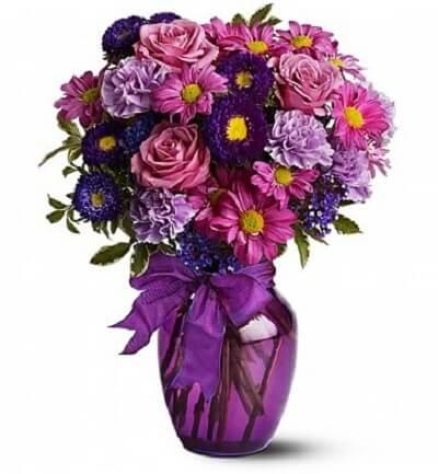 Valentine's Day-Lavender Garden Bouquet