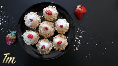 Strawberry Dessert, Marbled Strawberries