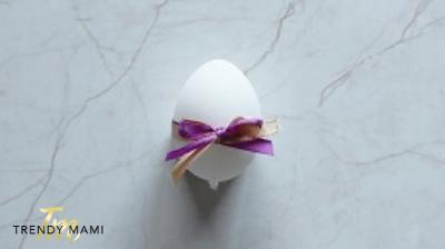 Easter Egg Design, bow tie egg
