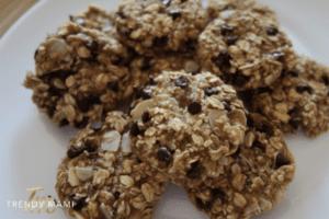 Gluten Free Vegan oatmeal cookie recipe, close up