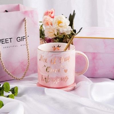gift guide, coasters and mug
