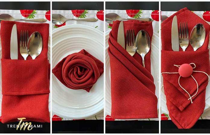 Fold napkins