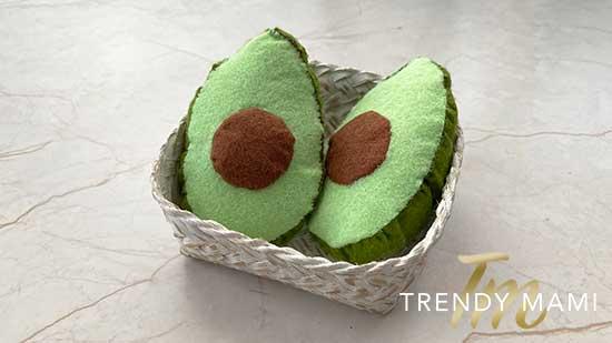 DIY Felt Vegetables - Avocado